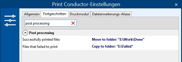 Dateien nach einem Stapeldruckauftrag verschieben, kopieren oder löschen