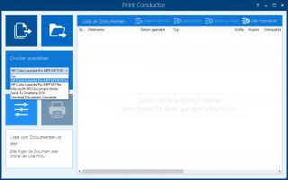 Print Conductor screenshot - Drucker auswählen