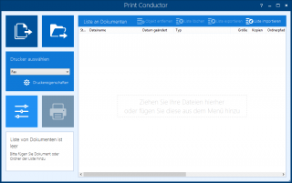 Print Conductor screenshot - Start