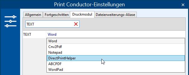 """TXT-Dateien im """"Direkt""""-Modus drucken"""