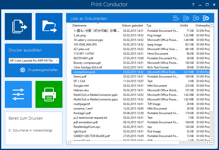 Print Conductor 5.0 Screenshot